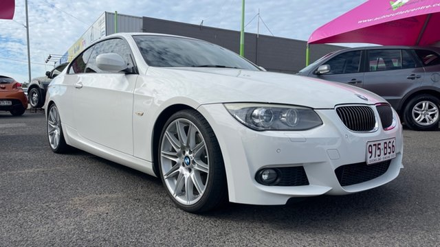 Used BMW 330d E92 MY10 Underwood, 2010 BMW 330d E92 MY10 White 7 Speed Auto Direct Shift Coupe