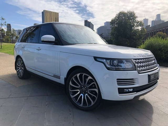 Used Land Rover Range Rover L405 14MY Autobiography South Melbourne, 2013 Land Rover Range Rover L405 14MY Autobiography White 8 Speed Sports Automatic Wagon
