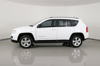 2013 Jeep Compass MK MY12 Sport (4x2) White Continuous Variable Wagon