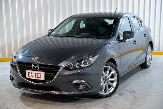 Used Mazda 3 BM5438 SP25 SKYACTIV-Drive Hendra, 2015 Mazda 3 BM5438 SP25 SKYACTIV-Drive Grey 6 Speed Sports Automatic Hatchback