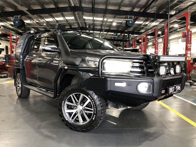 Pre-Owned Toyota Hilux GUN126R SR5 Double Cab Oakleigh, 2017 Toyota Hilux GUN126R SR5 Double Cab Graphite 6 Speed Sports Automatic Utility