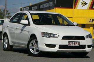 2014 Mitsubishi Lancer CJ MY14.5 ES Sport White 5 Speed Manual Sedan.