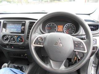 2016 Mitsubishi Triton MQ MY16 GLX+ Double Cab Silver 6 Speed Manual Utility