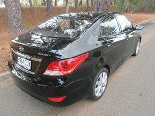 2011 Hyundai Accent RB Premium Phantom Black 4 Speed Sports Automatic Sedan.