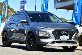 2018 Hyundai Kona OS MY18 Active D-CT AWD Silver 7 Speed Sports Automatic Dual Clutch Wagon.