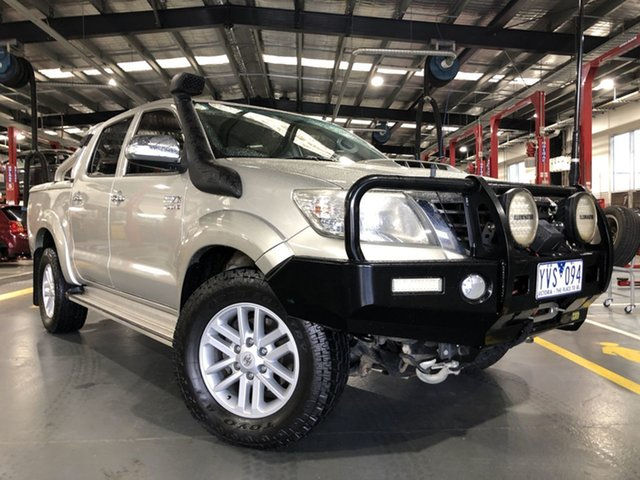 Pre-Owned Toyota Hilux KUN26R MY12 SR5 Double Cab Oakleigh, 2011 Toyota Hilux KUN26R MY12 SR5 Double Cab Sterling Silver 4 Speed Automatic Utility