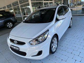 2019 Hyundai Accent Sport White Sports Automatic Hatchback.