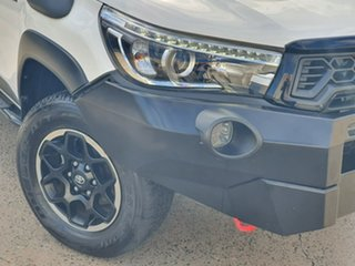 2019 Toyota Hilux GUN126R Rugged X Double Cab White 6 Speed Manual Utility