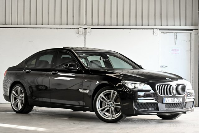 Used BMW 7 Series F01 LCI 740i Steptronic Laverton North, 2014 BMW 7 Series F01 LCI 740i Steptronic Black 8 Speed Sports Automatic Sedan