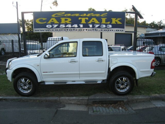 Used Holden Rodeo RA LT (4x4) Nambour, 2004 Holden Rodeo RA LT (4x4) White 4 Speed Automatic Crew Cab Pickup