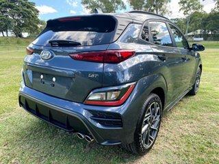 2021 Hyundai Kona Os.v4 MY21 N-Line D-CT AWD Dark Knight 7 Speed Sports Automatic Dual Clutch Wagon.