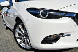 2016 Mazda 3 BM5238 SP25 SKYACTIV-Drive GT White 6 Speed Sports Automatic Sedan.