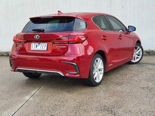 2018 Lexus CT ZWA10R CT200h Luxury Red 1 Speed Constant Variable Hatchback Hybrid.