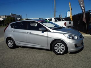 2016 Hyundai Accent RB4 MY16 Active Silver 6 Speed CVT Auto Sequential Hatchback.