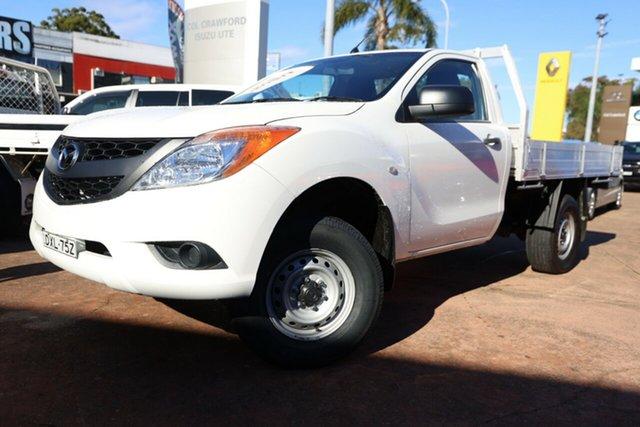Used Mazda BT-50 MY13 XT Hi-Rider (4x2) Brookvale, 2014 Mazda BT-50 MY13 XT Hi-Rider (4x2) White 6 Speed Automatic Cab Chassis