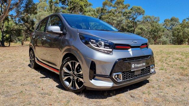 New Kia Picanto JA MY21 GT-Line Nuriootpa, 2021 Kia Picanto JA MY21 GT-Line Astro Grey 4 Speed Automatic Hatchback