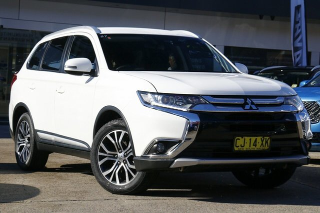 Used Mitsubishi Outlander ZK MY17 LS 2WD Safety Pack Homebush, 2017 Mitsubishi Outlander ZK MY17 LS 2WD Safety Pack White 6 Speed Constant Variable Wagon