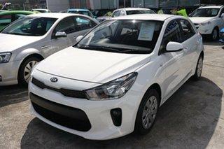2019 Kia Rio YB MY20 S Clear White 4 Speed Sports Automatic Hatchback.