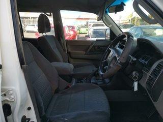 2005 Mitsubishi Pajero NP MY05 GLX White 5 Speed Sports Automatic Wagon.