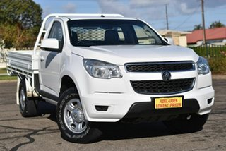 2013 Holden Colorado RG MY14 LX 4x2 White 6 Speed Manual Cab Chassis.