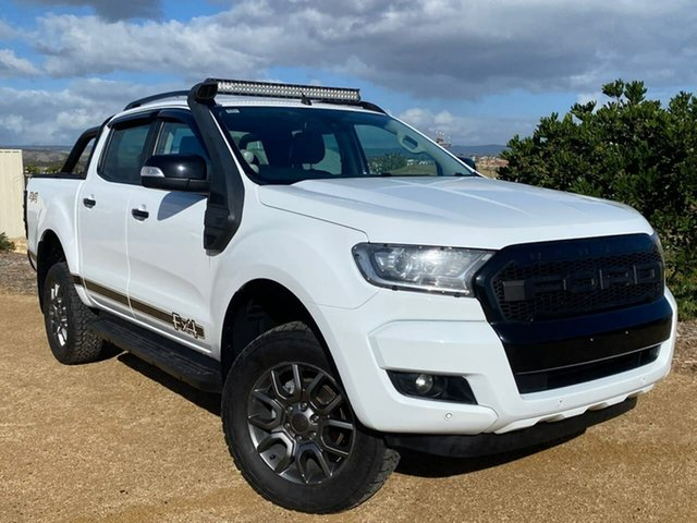 Used Ford Ranger PX MkII 2018.00MY FX4 Double Cab Christies Beach, 2018 Ford Ranger PX MkII 2018.00MY FX4 Double Cab White 6 Speed Sports Automatic Utility