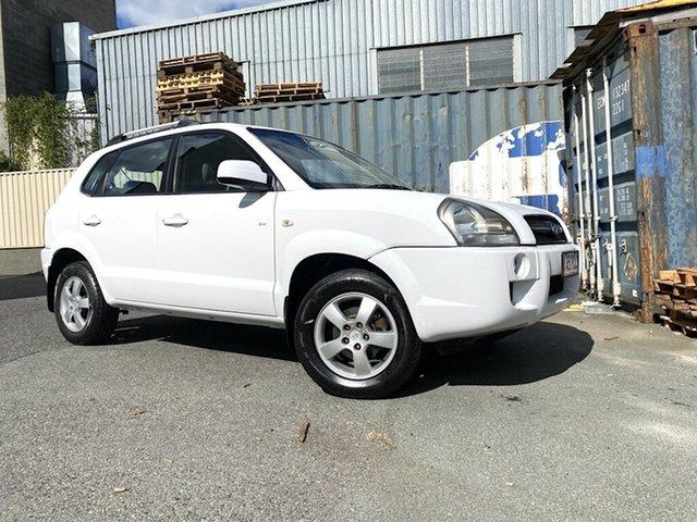 Used Hyundai Tucson JM MY07 City SX Slacks Creek, 2008 Hyundai Tucson JM MY07 City SX White 4 Speed Sports Automatic Wagon