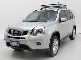 2011 Nissan X-Trail T31 MY11 TS (4x4) Silver, Chrome 6 Speed Manual Wagon.