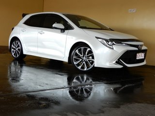 2021 Toyota Corolla ZWE211R ZR Hybrid White Continuous Variable Hatchback.