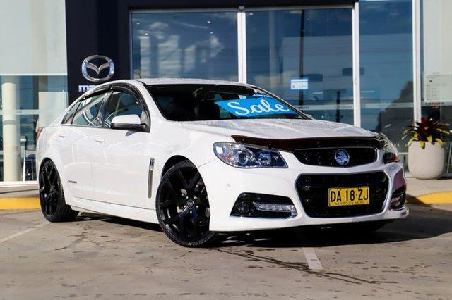 Used Holden Commodore VF MY15 SV6 Storm Kirrawee, 2015 Holden Commodore VF MY15 SV6 Storm White 6 Speed Sports Automatic Sedan