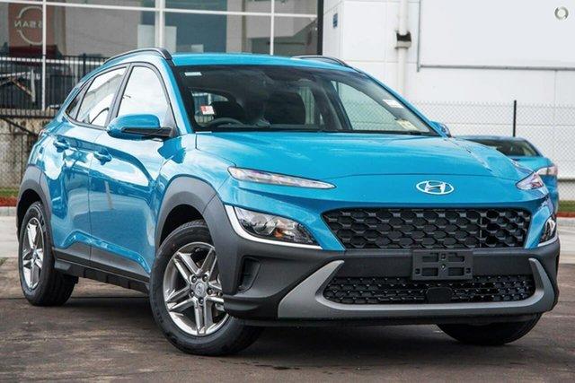 Demo Hyundai Kona Os.v4 MY21 2WD Oakleigh, 2021 Hyundai Kona Os.v4 MY21 2WD Blue 8 Speed Constant Variable Wagon