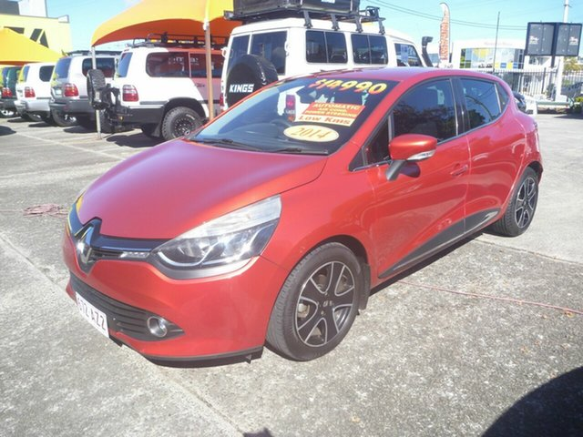 Used Renault Clio IV B98 Expression EDC Morayfield, 2014 Renault Clio IV B98 Expression EDC Red 6 Speed Sports Automatic Dual Clutch Hatchback