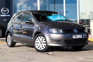2013 Volkswagen Polo 6R MY13.5 Trendline DSG Grey 7 Speed Sports Automatic Dual Clutch Hatchback.