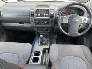2009 Nissan Navara D40 ST White 6 Speed Manual Utility