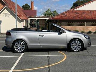 2012 Volkswagen Golf VI MY13 118TSI Silver 6 Speed Manual Cabriolet.