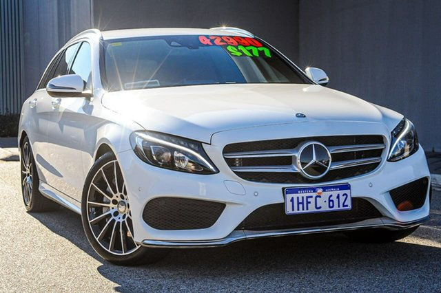 Used Mercedes-Benz C-Class S205 C250 Estate 7G-Tronic + Osborne Park, 2015 Mercedes-Benz C-Class S205 C250 Estate 7G-Tronic + White 7 Speed Sports Automatic Wagon