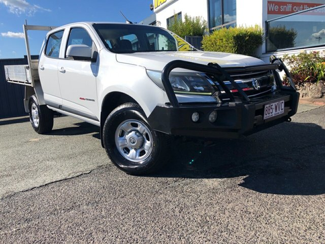Used Holden Colorado RG MY17 LS Crew Cab Slacks Creek, 2016 Holden Colorado RG MY17 LS Crew Cab White 6 Speed Sports Automatic Cab Chassis