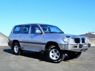 1999 Toyota Landcruiser FZJ105R GXL Silver 4 Speed Automatic Wagon.