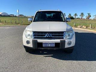2009 Mitsubishi Pajero NT Exceed LWB (4x4) White 5 Speed Auto Sports Mode Wagon.