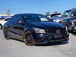 2017 Mercedes-Benz CLA-Class C117 808MY CLA45 AMG SPEEDSHIFT DCT 4MATIC Black 7 Speed.