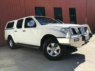 2007 Nissan Navara D40 ST-X White 5 Speed Automatic Utility.