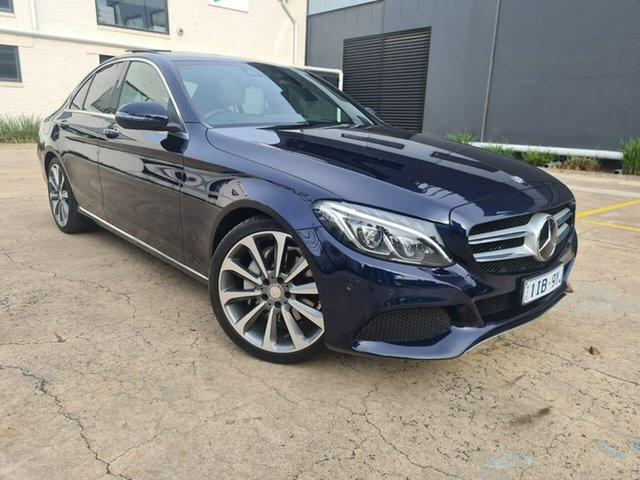 Used Mercedes-Benz C-Class W205 806+056MY C250 d 7G-Tronic + South Melbourne, 2016 Mercedes-Benz C-Class W205 806+056MY C250 d 7G-Tronic + Blue 7 Speed Sports Automatic Sedan