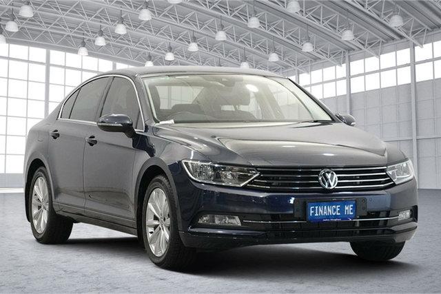 Used Volkswagen Passat 3C (B8) MY16 132TSI DSG Comfortline Victoria Park, 2016 Volkswagen Passat 3C (B8) MY16 132TSI DSG Comfortline Night Blue 7 Speed