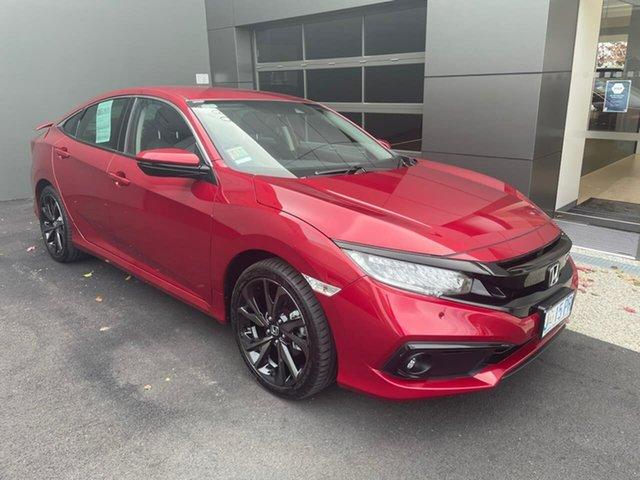Used Honda Civic 10th Gen MY20 RS Hobart, 2020 Honda Civic 10th Gen MY20 RS Red 1 Speed Constant Variable Sedan