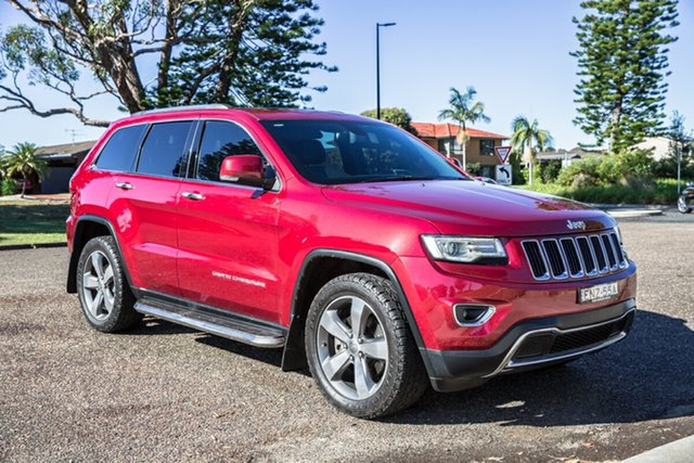 Used Jeep Grand Cherokee WK MY15 Limited Port Macquarie, 2015 Jeep Grand Cherokee WK MY15 Limited Deep Cherry Red Pearl 8 Speed Sports Automatic Wagon