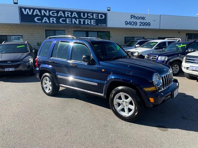 Used Jeep Cherokee KJ MY05 Upgrade II Limited (4x4) Wangara, 2007 Jeep Cherokee KJ MY05 Upgrade II Limited (4x4) Blue 4 Speed Automatic Wagon