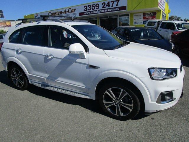 Used Holden Captiva CG MY16 LTZ AWD Kedron, 2015 Holden Captiva CG MY16 LTZ AWD White 6 Speed Sports Automatic Wagon