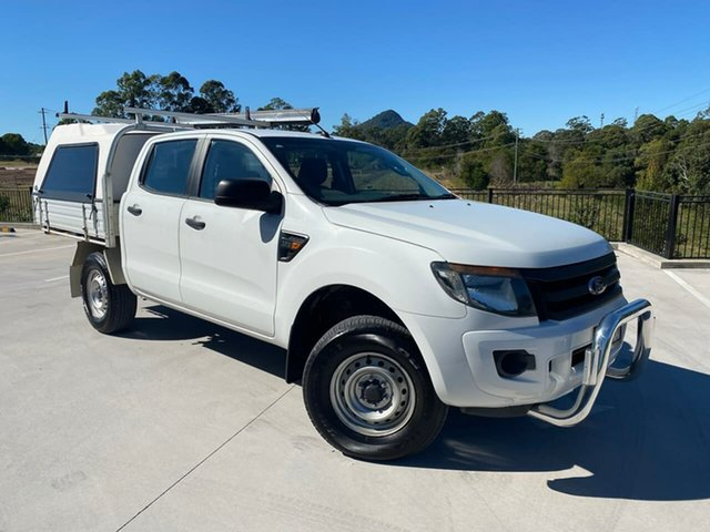 Used Ford Ranger PX XL Cooroy, 2013 Ford Ranger PX XL White 6 Speed Sports Automatic Cab Chassis