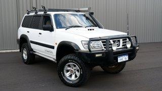 2002 Nissan Patrol GU III MY2002 ST White 5 Speed Manual Wagon.
