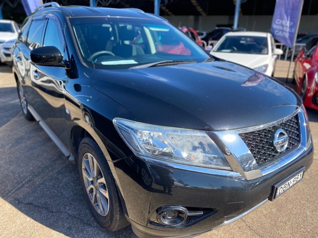 Used Nissan Pathfinder R52 MY15 ST X-tronic 2WD Wickham, 2015 Nissan Pathfinder R52 MY15 ST X-tronic 2WD Black 1 Speed Constant Variable Wagon