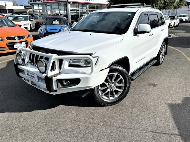 Used Jeep Grand Cherokee WK MY15 Limited Seaford, 2014 Jeep Grand Cherokee WK MY15 Limited White 8 Speed Sports Automatic Wagon